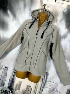 MUSTO OCEAN RACING 064 Womens 12 Jacket Off Shore Supplies Hood Grey