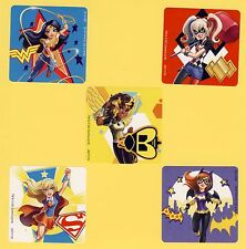 15 DC Super Hero Girls Large Stickers - Wonder Woman, Harley Quinn, Batgirl