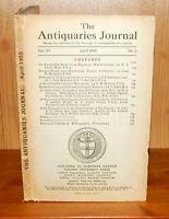 1935 THE ANTIQUARIES JOURNAL Vol XV No 2 April OLD SARUM Playden DUROBRIVAE &c