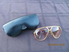 Vintage Orig 80s Alpina M1 Aviator Sunglasses W.German 64-14 Gold Copper 2266381