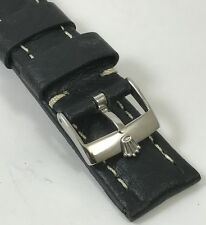 ROLEX SUBMARINER Model 18mm Steel Logo Buckle 20mm Paneri Design Black Strap