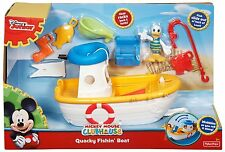 Fisher Price Mickey Mouse Clubhouse Quacky Fishin Boat w/ Donald CJD97 *new*