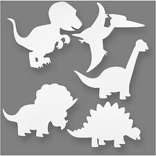 Dinosaur White Card Shapes Templates To Colour 20x25cm Children Craft PK16