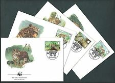 Belize 1983  WWF Official FDC. The Jaguar / Cats. Set of 4 Covers (45)