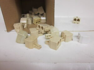 (  Lot of 20 ) RJ11 Male to Dual Female 2 Way  Splitter Connector