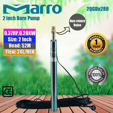 MARRO Stainless Steel 2 inch  Screw Bore Pump Deep Well upto 52m head