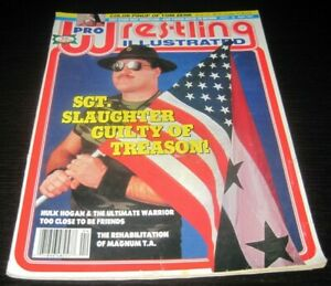 Vintage Pro Wrestling Illustrated Magazine WWE WCW WWF Wrestler Sgt. Slaughter