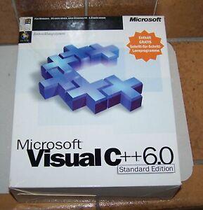 MS VISUAL STUDIO C++ 6.0, Standard Edition. Deutsch, mit SP4 in OVP