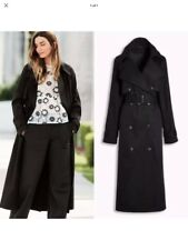 NEXT Black Mac Trench Coat Size 14