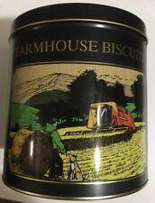 Collectable Farmhouse Biscuits Tin Barrel Round Display Edinburgh Preserves