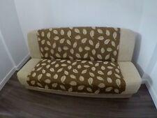 Click clack SOFA BED with storage beige brown cream sofa