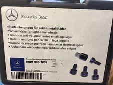MERCEDES RICAMBI ORIGINALI Bloccaggio Ruota Bullone / Dado Set per ruote in lega, nuovi