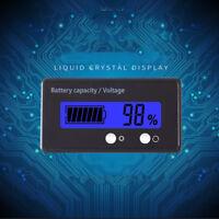 12V 24V 48V Battery Status Charge LCD Digital Indicator Monitor Meter Gauge Blue
