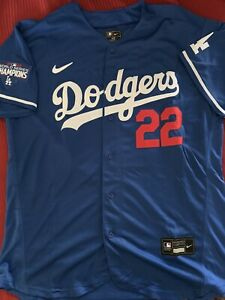 Clayton Kershaw LA Dodgers Jersey W/O Tags With World Series Patch Men's XL