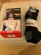 New Box Franklin Deluxe Baseball Pants Youth X-Small White W/Franklin Socks