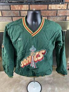 Vintage Seattle Supersonics NBA Basketball Jacket Youth XL SONICS Green Reebok