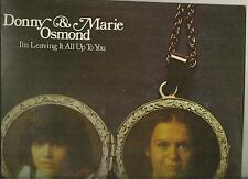 DONNY & MARIE OSMOND LP ALBUM I'M LEAVING IT ALL UP TO YOU