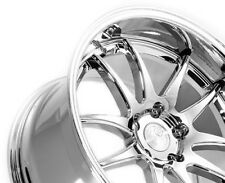 18x9.5 Aodhan Ds2 Rims 5x114.3 +30 Vacuum Chrome Civic Lancer Mazda3 RSX TSX TC