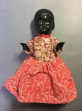 VINTAGE BLACK DOLL PLASTIC ARTICULATED ARMS ETHNIC 1960's?? UNMARKED