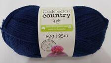 Cleckheaton Country 8ply DK 100 Wool 3x50g Balls Blue Navy Purple Knitting