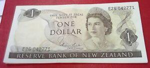 NEW ZEALAND 1 DOLLAR NOTE AU-UNC HARDIE SIGNATURE