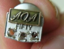 Fifty Years Pin No Stones Vintage Aoa 10K White Gold