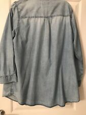 New Look Denim Shirt Size 18
