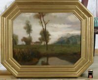 Emanuel Schaltegger? 1857-1909 Munich Oil Painting Antique Impressionist Sides