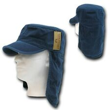 Navy Blue Foreign Legion Fishing Boating Sun Protector Cap Caps Hat Hats L/XL