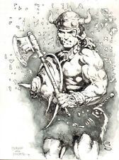 CONAN THE BARBARIAN ORIGINAL ART GEOFF ISHERWOOD 1 PC NOT CGC 9 X 12 FRAZETTA