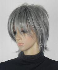 HELLOJF1445 short vogue dark gray new style fashion cosplay  hair Wig wigs