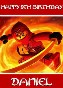 Lego Ninjago Personalised Birthday Card - Add your own name & age