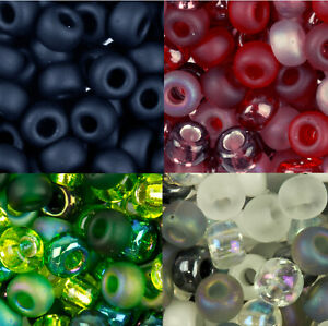 Miyuki Round Seed Beads 6/0 approx 250 beads. Choose from over 10 Colours