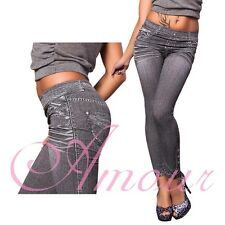 New Fashion Sexy Show Thin Denim Jeans Like Kitty Print Leggings Tights Gift