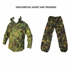 ARMY DPM GORETEX SET - JACKET AND TROUSERS - USED - WATERPROOF SET - BRITISH