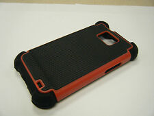 Heavy Duty Armor Hybrid Hard Case Combo for Samsung Galaxy S2 II i9100 New Red