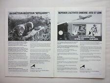 6/1977 PUB MBLE EMETTEUR RECEPTEUR HF/BLU BDR-610 DRONE ASMODEE ARMEE BELGE AD