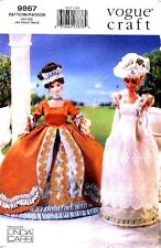 """VOGUE 9867 11½"""" Fashion Doll Historical Clothes Pattern"""