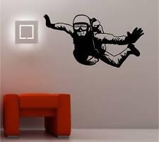 énorme PARACHUTISTE Art mural autocollant vinyle chambre d'ENFANT Décalcomanie
