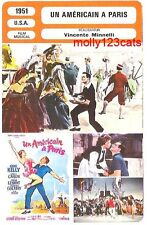 An American In Paris Movie Gene Kelly Vincente Minnelli French Trade Card