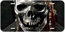 Skull Pirates Aluminum Novelty Auto License Plate