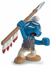 SPEAR AMERICAN INDIAN SMURF from 2007 by SCHLEICH THE SMURFS - 20550