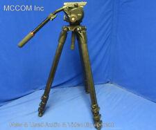 Manfrotto 504HD Tripod Head w/ 536 3 Stage Carbon Fiber Legs, Handle