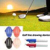 2Pcs Golfball Triple Track 3 Line Markierungsschablone
