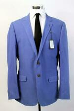 NWT $175 DANIEL HECHTER Harper Blazer Jacket Sport Coat Royal Blue 46 LONG