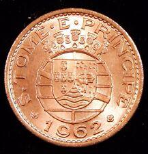 GEM BU RD (Portuguese) São Tomé et Príncipe 1962 50 Avos Nice Coin!  linda moeda