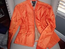 NWT I.N.C WOMAN'S ORANGE QUILTED ZIPPERED JACKET SIZE PETITE