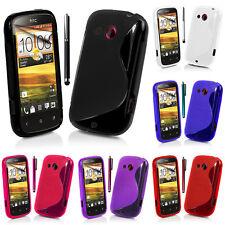 Schutz Hülle für HTC Desire C A320E/ G7C TPU Silikon Flip Case Cover Etui