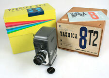 YASHICA 8T2 8MM CINE CAMERA W/ MANUAL   13MM F1.4 LENS W. CAP IN ORIG. BOXES