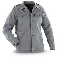 Swiss Ex Army Surplus jacket Denim Grey Vintage Work Prison Shirt Vintage